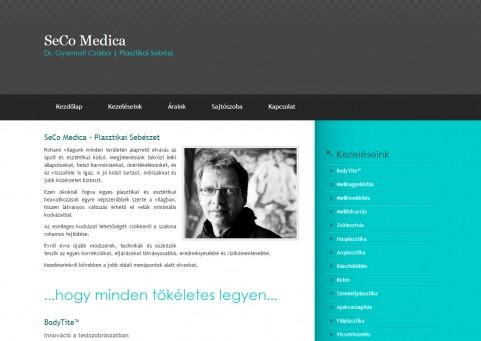 SpaceboyDesign - SeCo Medica honlapkészítés referencia