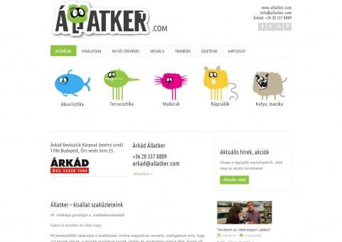 SpaceboyDesign – Állatker.com honlapkészítés referencia