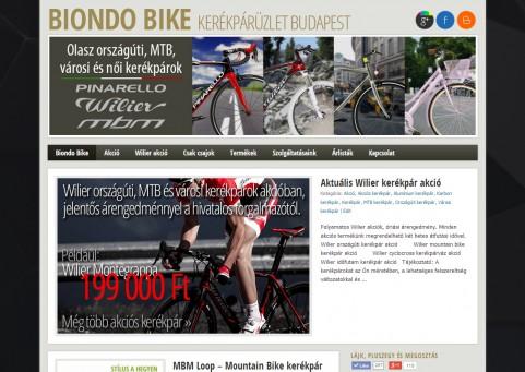 SpaceboyDesign – Biondo Bike honlapkészítés referencia