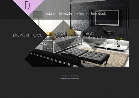 SpaceboyDesign – Dora d' Home honlapkészítés referencia