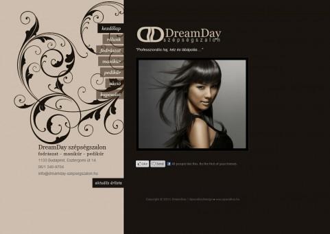 SpaceboyDesign – DreamDay Szépségszalon honlapkészítés referencia