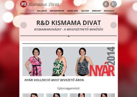 SpaceboyDesign – Kismama Divat honlapkészítés referencia
