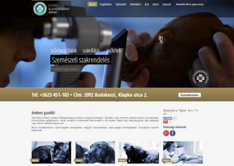 SpaceboyDesign – Klapka Állategészségügyi Központ honlapkészítés referencia
