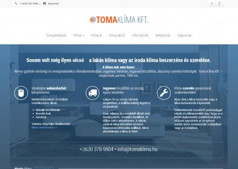 SpaceboyDesign – Toma Klíma Kft. honlapkészítés referencia