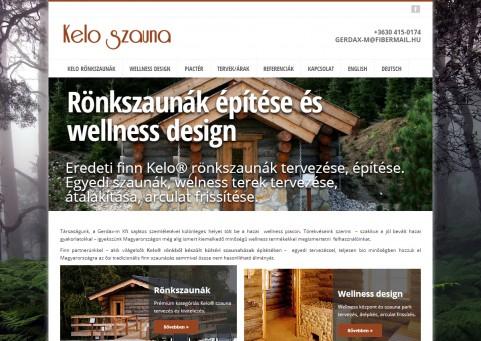 SpaceboyDesign – Kelo Szauna honlapkészítés referencia