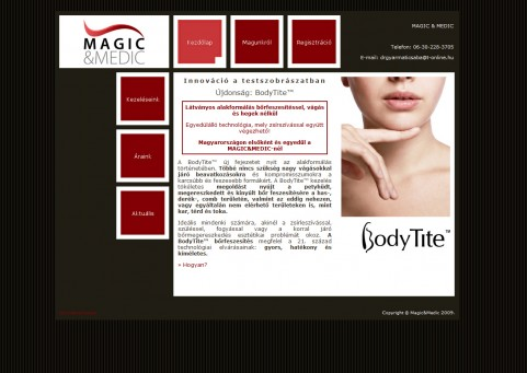SpaceboyDesign - Magic&Medic London honlapkészítés referencia