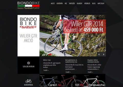 SpaceboyDesign – Wilier Biondo Bike honlapkészítés referencia